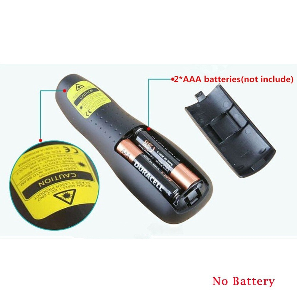Wireless Presenter With Laser Pointer Red Light RF Wireless Laser Pen 2.4GHz USB Remote Control For PPT Presentation