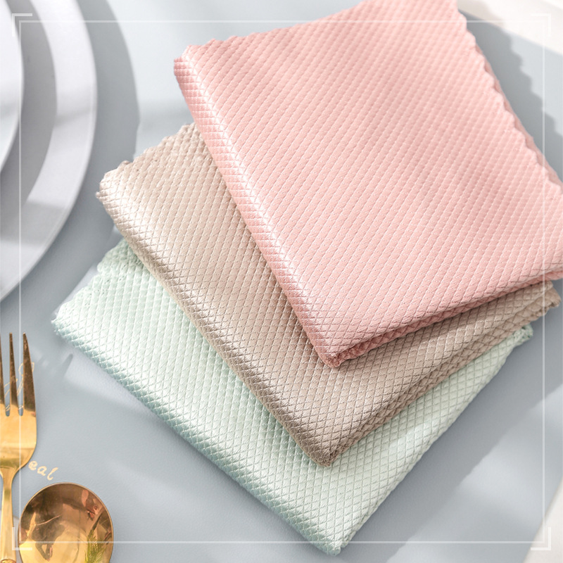 5Pcs Kitchen Anti-Grease Wiping Rags Efficient Microfiber Cloth