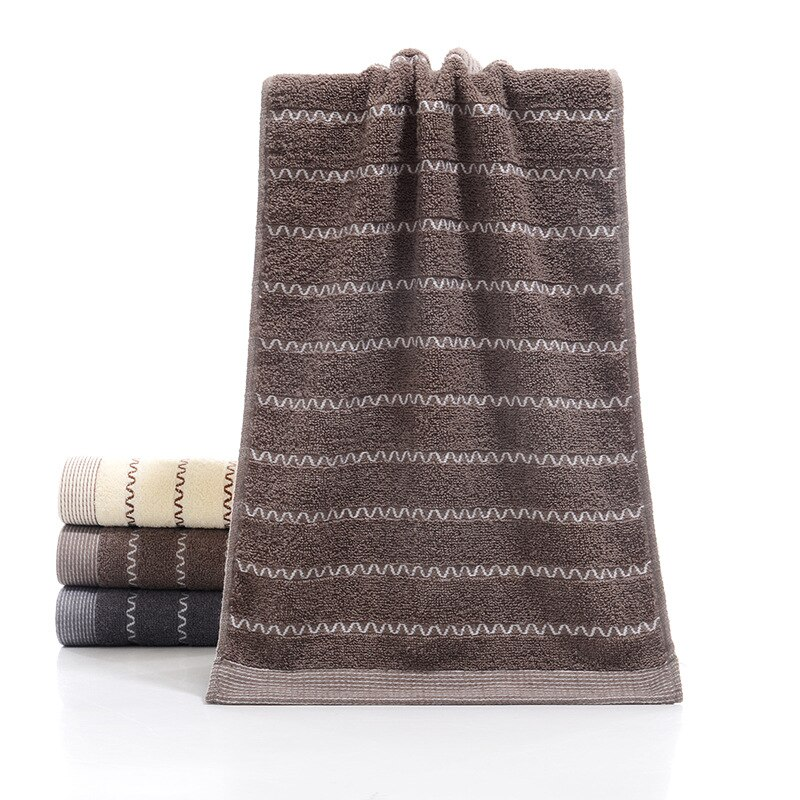 1pc 34cm X 74cm 100% Cotton Towel Water Absorbent Large Thick Bath Towel Bathroom Hand Face Shower Towels Home Hotel for Adults